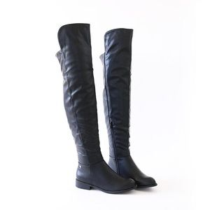 oksana -313 black over knee high rider boots